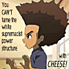 The Boondocks, Behold the power of CHEESE!, Back up the CRACK WAGON, race matters