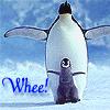 Penguins: wheee!