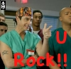 Raoul, McGurk, Zathras, something like that: scrubs rock