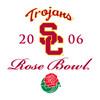 Trojans - 2006 Rose Bowl - white