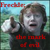 Freckled Satan High Priestess: Freckle mark