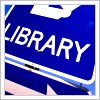 library - sign