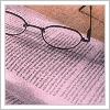 book -- glasses