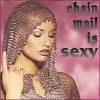 chain mail is sexy, warrior babe