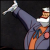 I'm Ms. Heat Miser...: Batman: Joker happy smile