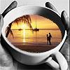 teacup sunset
