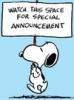 snoopy - announcement