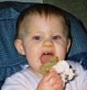 Angela eating carrot cake!