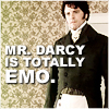 I've frequently not been on boats.: darcy is emo.