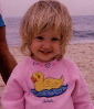 Awww... 2-year old Adela at the Beach!