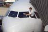 Pilot as window washer