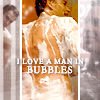 a curious cat: NCIS: Tony bubbles