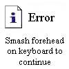 error - smash head