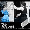 Harry/Hermione - B&W - Blue Dress Rose