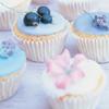 pale blue cupcakes