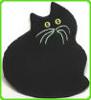 cat_willow (Jan): 0cat-Black polar fleece cat w green bord