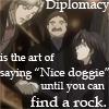 """Ludwig - """"Nice doggie."""""""