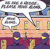 comic tick ninjas hedge