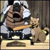 sports silliness, Samurai Champloo (baseball), the dog has a very small strike zone