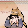 Koko: glomp 少し照れ