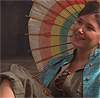 FF kaylee seated with umbrella