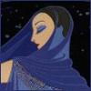 Peg: blue lady