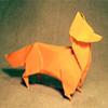 лиса из оригами