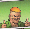 That's Lay-day Snackpants to you, buster.: guy gardner/thumbs up!