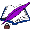 purple quill ink book