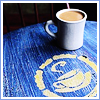 other: coffee blue table cafe