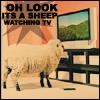 TV- Sheep watching TV vintage