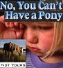 No pony?