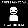 Can't brain today...have the dumb.