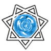 Star of Babalon with blue rose
