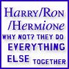 Harry Hermione Ron: lemonwar