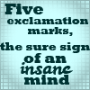 Discworld - Exclamation marks