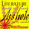 writing literature vonnegut asshole