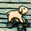 dog on wheels (casirafics)