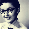cheeky vintage lady w/ glasses