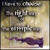 Right way/Simple way