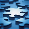 puzzle: scattered pieces