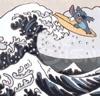 Stitch--hokusai