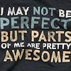 I may not be perfect....