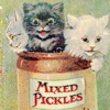 maudelynn: kitties mixed pickles