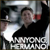dean says annyong to his hermano