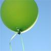 gen green balloon blue sky