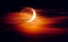 tdapenguin: cresent moon sunset