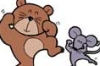 bear, mouse