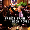 Becky: Freeze frame Hi 5