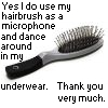 Hairbrush microphone